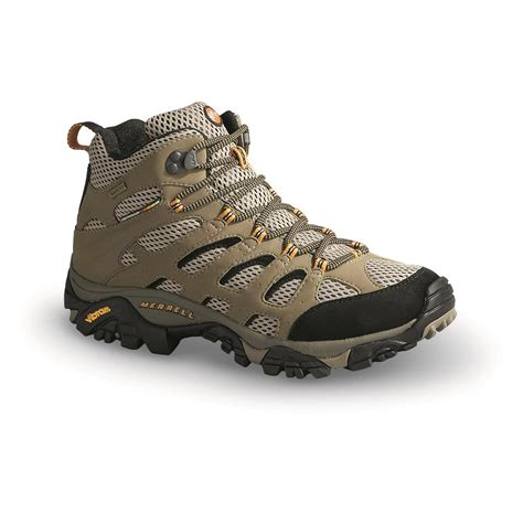 mens mid hiking boots merrell tex xcr s moab mid hiking boots