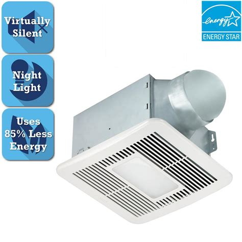 bathroom exhaust fan with led light delta breez smart series 150 cfm ceiling bathroom exhaust