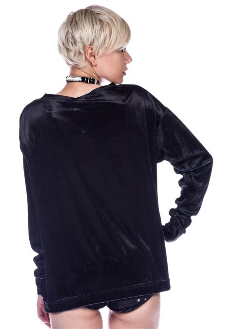 Blackcat Sweater wildfox couture black cat meow sleeve crew sweater