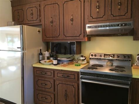Refacing Old Kitchen Cabinets Painting Or Refacing Formica Cabinets