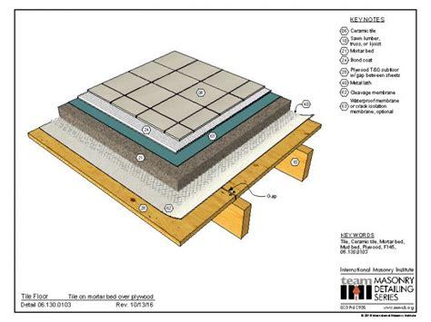 mortar bed 06 130 0103 tile floor tile on mortar bed over plywood