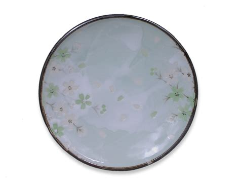 Blossom Free Plate 7 5 8 inch green cherry blossom plate