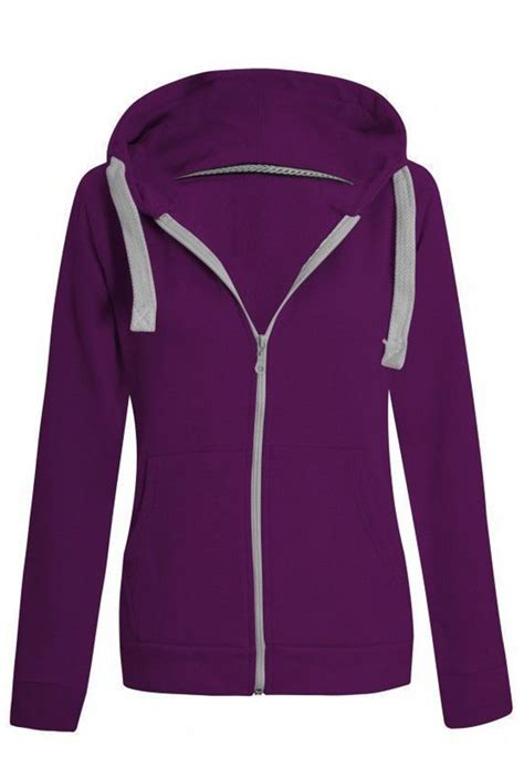 Hoodie Zipper Pimpstar 3 womens plain malaika hoodie hoody hooded zip sweatshirt zipper top uk 8 28 ebay