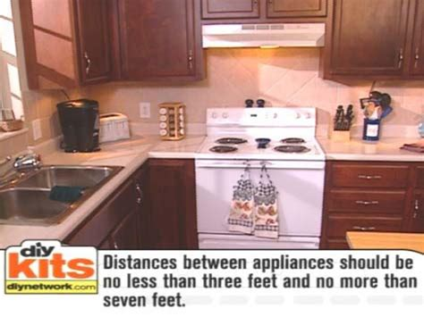 how to set up a kitchen work triangle kitchen work triangle how tos diy