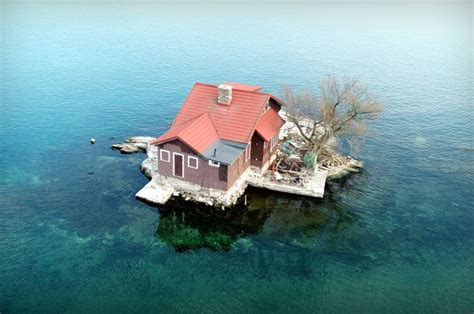 just room enough island family lives in tiny house on island the size of a tennis