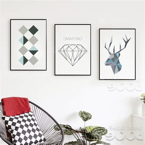 Geometric Home Decor Sle Geometric Shape Canvas Print Painting Poster Wall Pictures For Home Decoration Home
