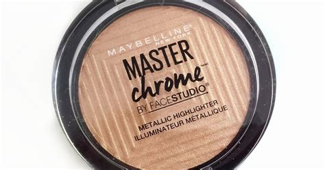 Maybelline Highlighter maybelline master chrome highlighter review swatches and