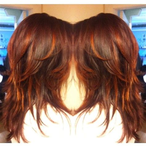 haircolor styles withn burgundy accents deep burgundy base with cherry red accents chick stuff
