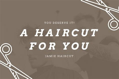 Haircut Gift Certificate Template by Gift Certificate For Free Haircut Template Gallery