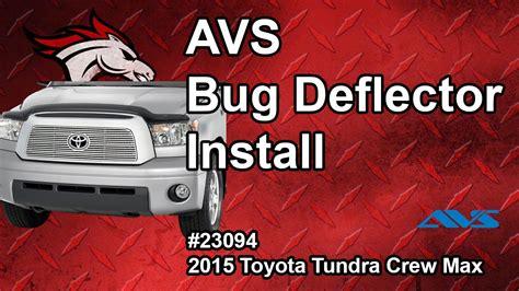 bug video max avs bug deflector shield install 15 toyota tundra crew