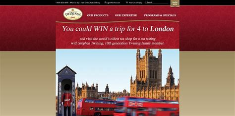 Twinings London Sweepstakes - twinings of london sweepstakes twiningsusa com london win a trip to london