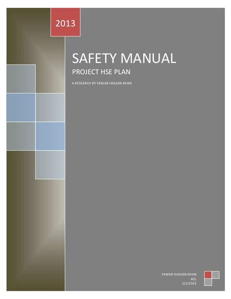 Project Hse Plan Hse Manual Template