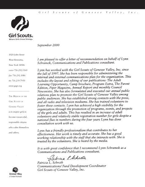 Official Bsa Letterhead Image Scout Recommendation Letter
