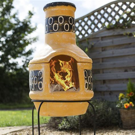 brick chiminea pizza circles clay chiminea patio heater with bbq by