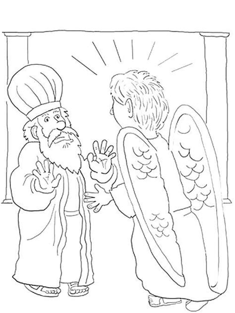 coloring page zechariah coloring pages coloring and angel on pinterest