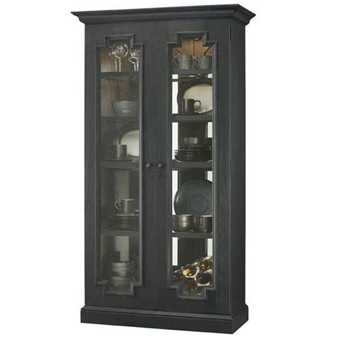 Wire Cabinet Doors Curio With Aged Finish Fireside Furniture