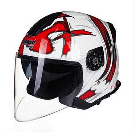 Helm Half Gix 207 Racing Visor tanked racing t597 dual visor electric motorcycle helmet dirt scooter motorbike safety