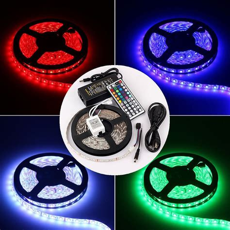 Rgb Led Light Strip Kit Waterproof 5050 5 M 300 Led Rgb Led Lighting Strips