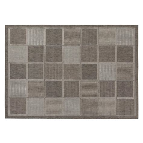 5x7 Area Rug Home Depot Ottomanson Jardin Collection Contemporary Boxes Design Gray 5 Ft 3 In X 7 Ft 3 In Outdoor