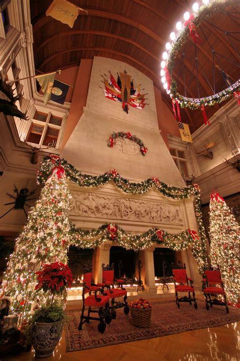 christmas  biltmore house  fireplace  banquet hall click  photo  christmas