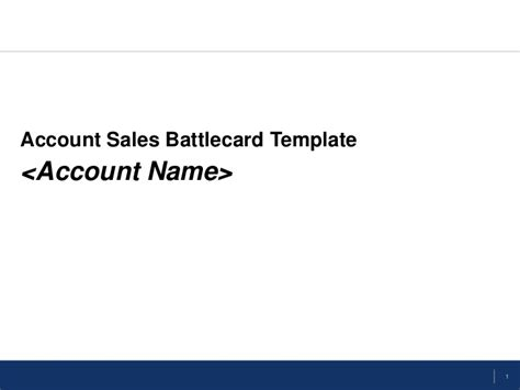 Sales Battle Card Template by Flevy Sales Battlecard Template