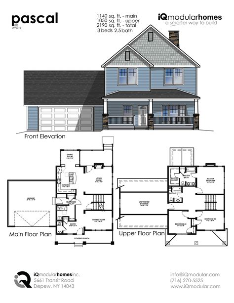 Two Story Home Floor Plans Iq Modular Homes 2 Story
