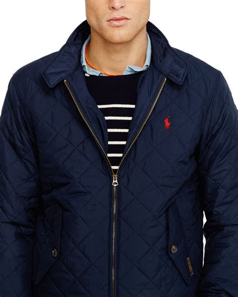 Jaket Parka Tipe A Polos Navy ralph quilted barracuda jacket in blue for lyst