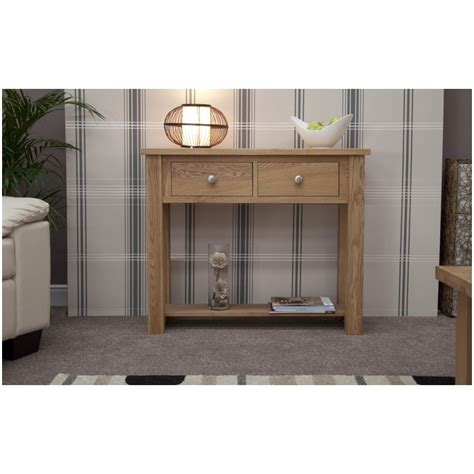 Small Console Table For Hallway Kingston Solid Oak Hallway Furniture Small Console Table Ebay