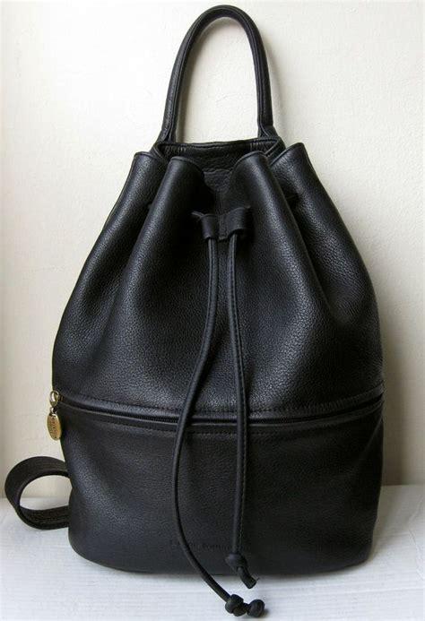 Zara Convertible Tote Bag Drawstring Black vintage large black pebble leather sling shoulder or cross
