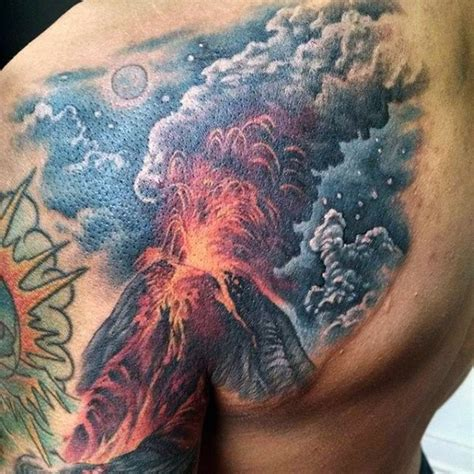 simple volcano tattoo 63 outstanding volcano tattoo made by classy dark ink