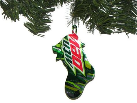 christmas mt dew recycled mountain dew soda can ornament by sodapopbling 4 00 mt dew oh why do i