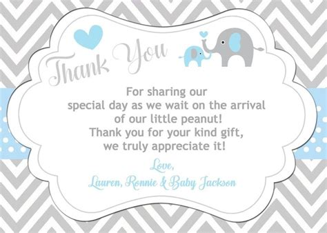 Thank You For Baby Gift Card - thank you cards for baby showers 20036