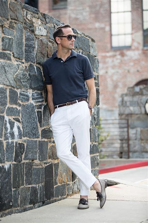 Casual Summer Polo Shirt Blue summer simply polo shirt and chinos he spoke style