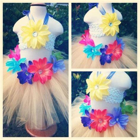 Halter Tutu Set hawaiian hula tutu set birthday tutu set hula skirt