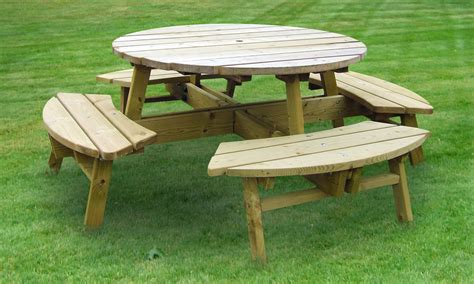 circular picnic bench rose round picnic table 8 seater hillsborough fencing co ltd