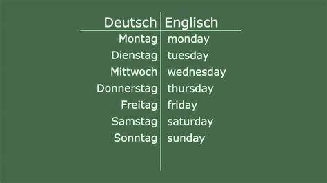 was bedeutet schrank auf englisch englisch lernen wochentage