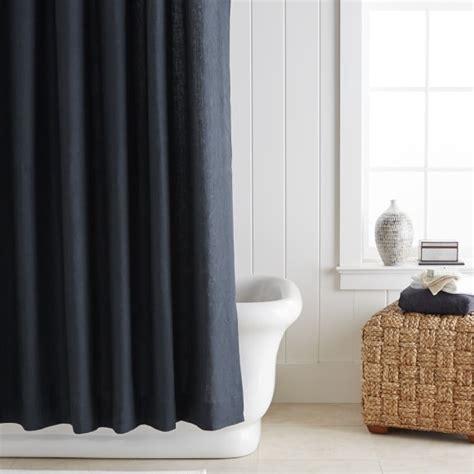 williams sonoma curtains signature linen shower curtain williams sonoma