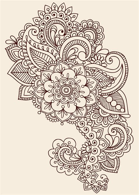 flower tattoo designs pinterest paisley designs paisley henna design tattoos