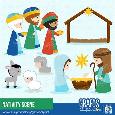 clipart presepe nativity digital clipart set wise clipart