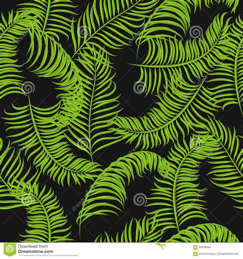 jungle pattern vector tropical jungle palm leaves vector pattern background