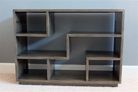 tetris style bookshelf teal and lime by jackie hernandez