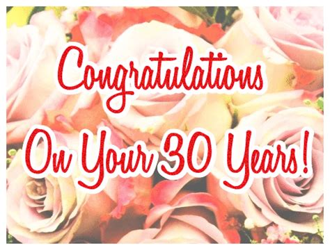 Wedding Anniversary Congratulations Cards by 30th Wedding Anniversary Card Congratulations