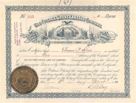 Currency Exchange On 79 Cottage Grove by Cottage Grove Lake Company 1891 Cleveland Ohio