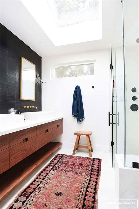 Rugs In Bathrooms 37 Amazing Mid Century Modern Bathrooms To Soak Your Senses
