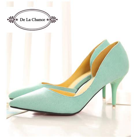 2016 new arrival white mint green wedding shoes stiletto