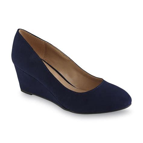 Wedges Slip On Va covington s arcadia blue wedge shoe
