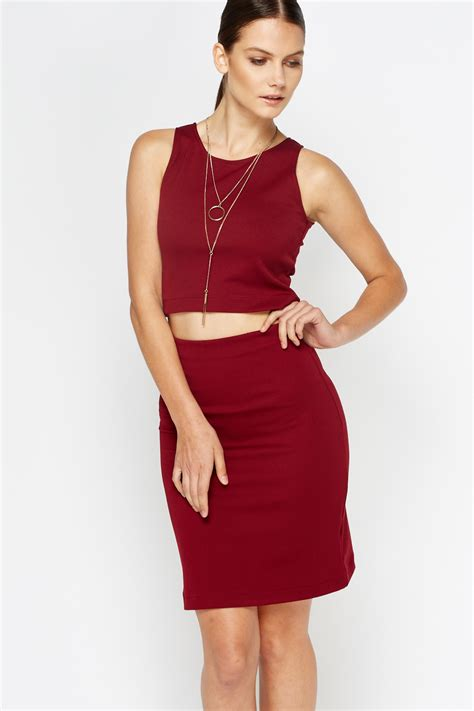 Tops Skrit crop top and skirt co ord set just 163 5