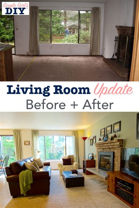 living room update before after single s diy