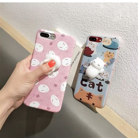 Lovely Cat By Taburasa Squishy squishy phone for iphone 6 6s 7 plus capa soft