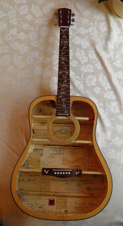 upcycled guitar upcycled fender guitar shelf furniture an by